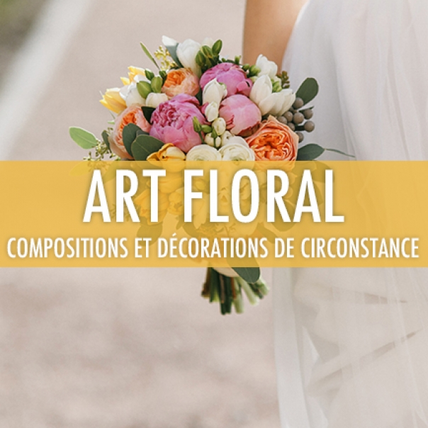 Art floral: compositions et décorations de circonstance