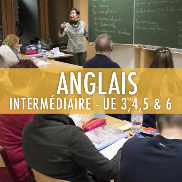 Anglais : Intermédiaire UE 3,4,5 et 6