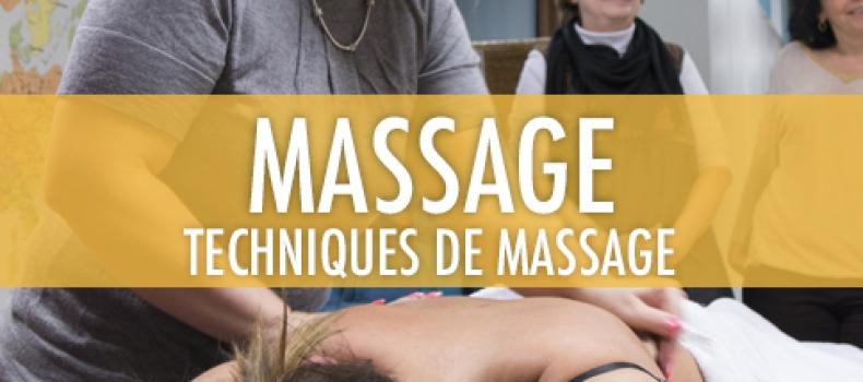 Prochaine formation en février: techniques de massages