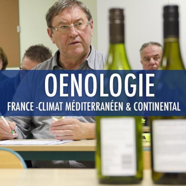oenologie 2 : France – Climat Méditerranéen et continental