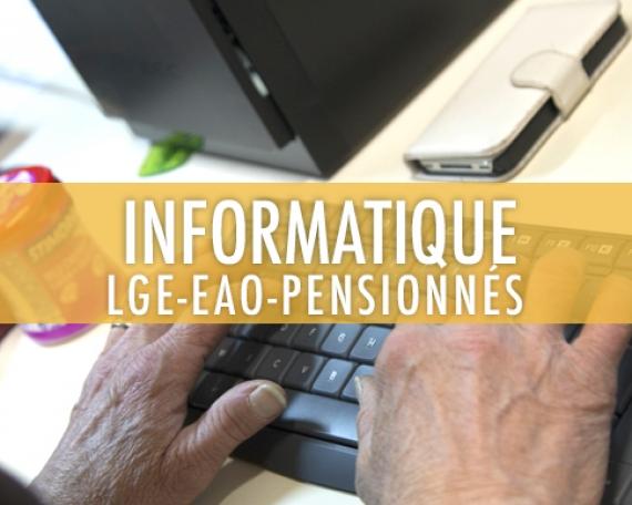Informatique: Logiciel graphique d'exploitation & Edition assistée par ordinateur- niveau élémentaire – Pensionnés