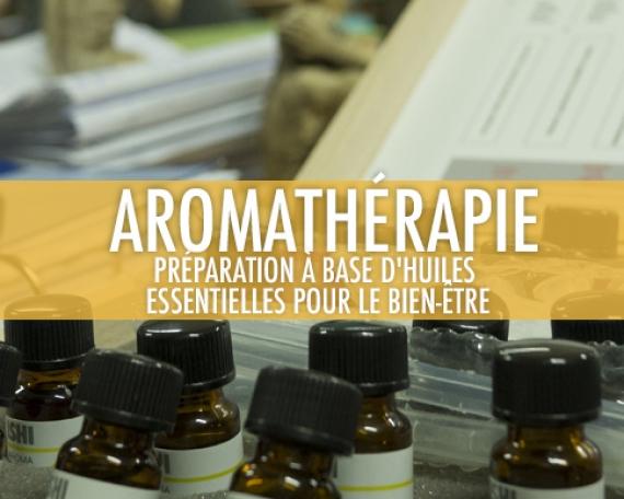 Aromathérapie: Préparation à base d'huiles essentielles pour le bien-être